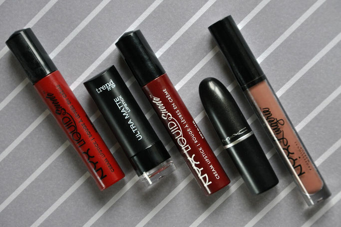 Top 5 Lippenstifte NYX MAC Trend It Up Beautyblog Deutschland Naehblog Modeblog Nähen Fairy Tale Gone Realistic