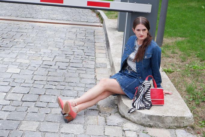 Denimoutfit + 5 Gründe, häufiger Jeans zu tragen Modeblog Nähblog selbstgenähte Kleidung