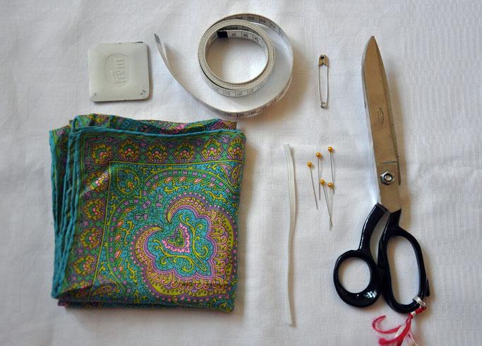 DIY Scrunchy nähen aus Seidentuch Nähblog Modeblog DIY Blog Fairy Tale Gone Realistic 1