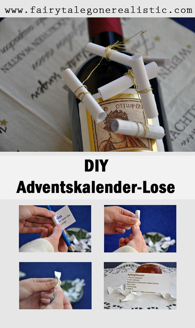 DIY-Adventskalender + Freebie Lose zum Ausdrucken DIY Blog Nähblog Fairy Tale Gone Realistic Lifestyle