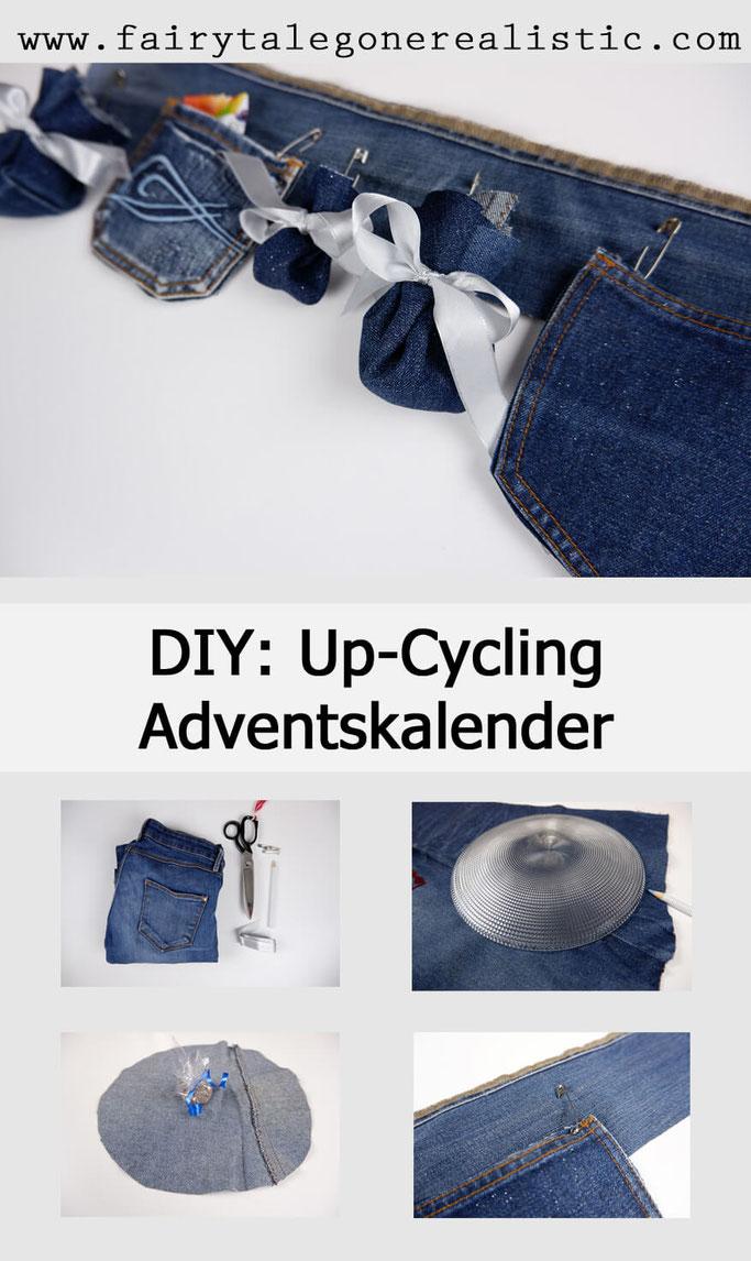 DIY Adventskalender basteln Up-Cycling alte Jeans Nähblog Nähanleitungen DIY Nähen