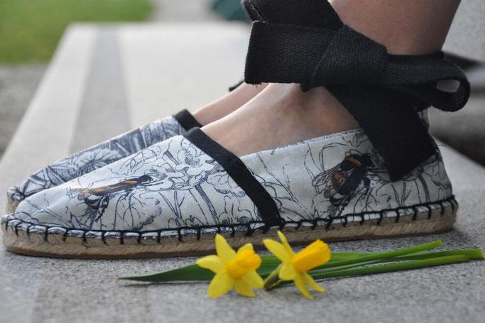 DIY Espradrilles Frühlings Hop Prym Spoonflower Nähen Nähblog Modeblog Fairy Tale Gone Realistic