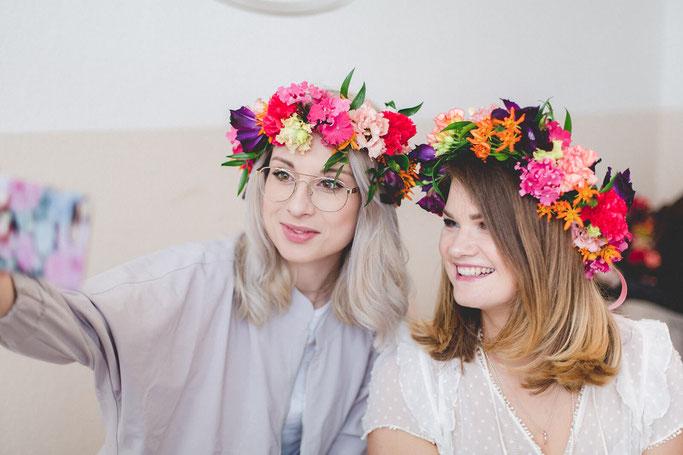 Blumenkranz Workshop Classy Flowers in MünchenBlumenkranz für die Haare DIY Blog Nähblog Modeblog Fairy Tale Gone Realistic
