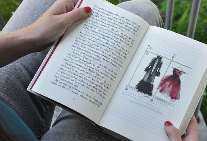 Das rote Kleid Buchrezension Buchblog Nähblog Modeblog Fairy Tale Gone Realistic