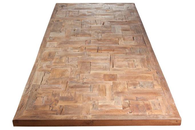 Tischplatte Eiche Altholz mit Mosaikmuster