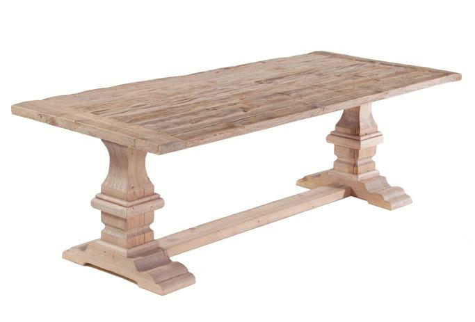 Klostertisch Eiche aus recyceltem Holz