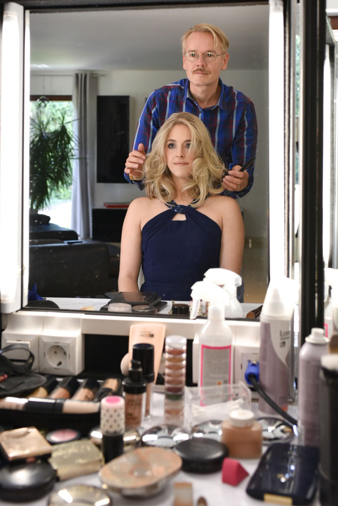 Brautfrisur Lange Haare Styling Model Brautmakeup Werbung Stars