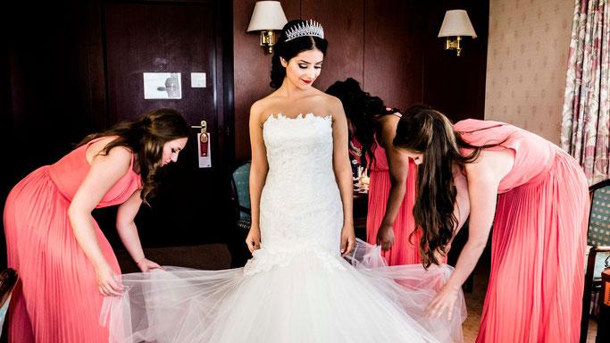 Brautfrisuren Brautmakeup Steckfrisur Wedding