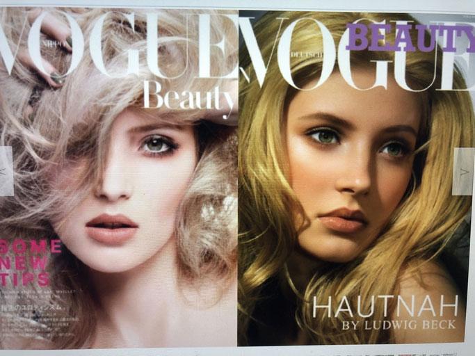 Alexandra Tretter Titelblatt der Vogue Beauty