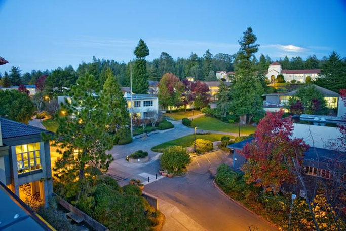 Blick auf den Campus der Humboldt State University, Arcata, Kalifornien, USA