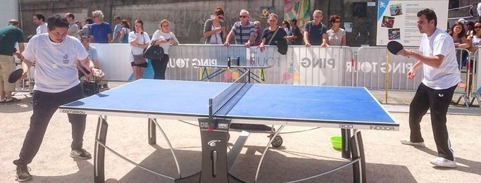 Sensibilisation tennis de table handisport