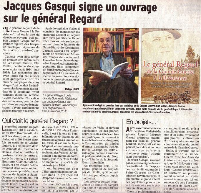 Dauphiné Libéré, Romanche-Oisans, St-Georges de Commiers,  édition du 26 février 2017.