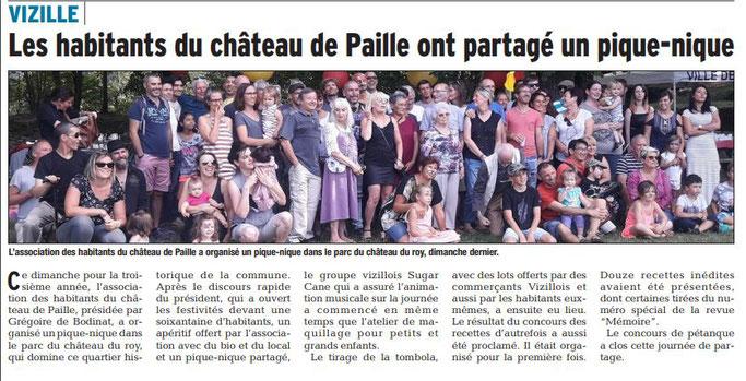 Dauphiné Libéré, Romanche & Oisans, Vizille édition du 12 septembre 2018.