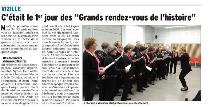Dauphiné Libéré, Romanche & Oisans, Vizille édition du 17 mai 2018.