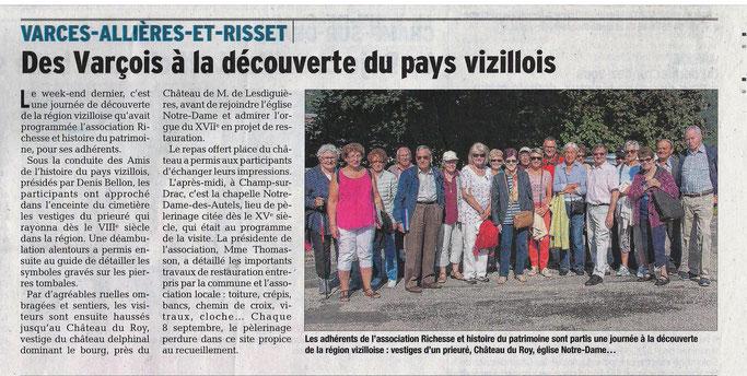 Dauphiné Libéré, Romanche & Oisans, Varces édition du 22 juin 2018.