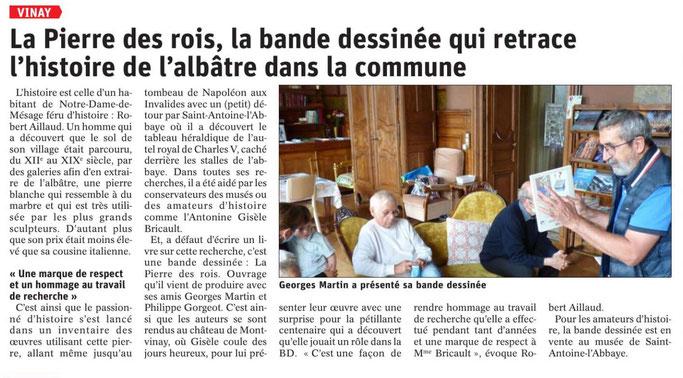 Dauphiné Libéré, Vinay édition du 01 octobre 2021