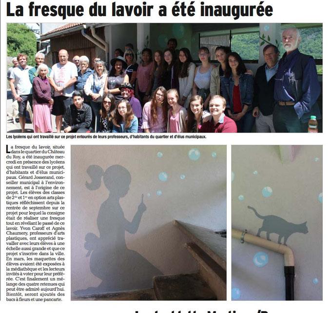 Dauphiné Libéré, Romanche & Oisans, Vizille édition du 10 juin 2017,