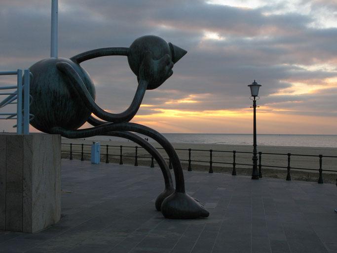 Skulpturen auf dem Boulevard von Scheveningen