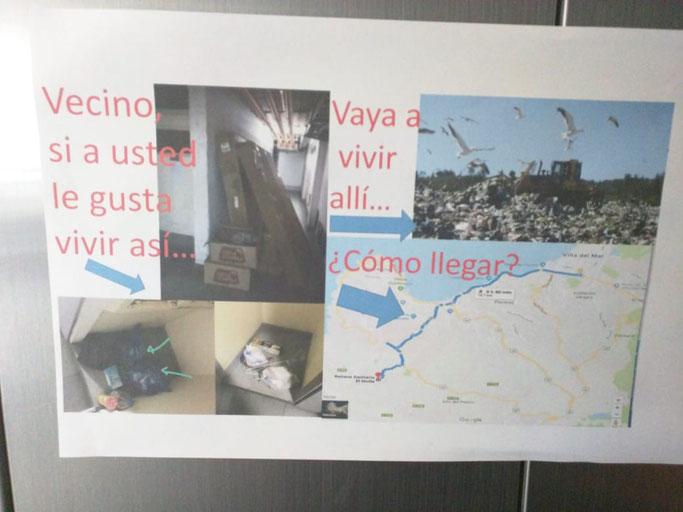 Testimonio: Afiche de morador desesperado en edificio de Viña del Mar