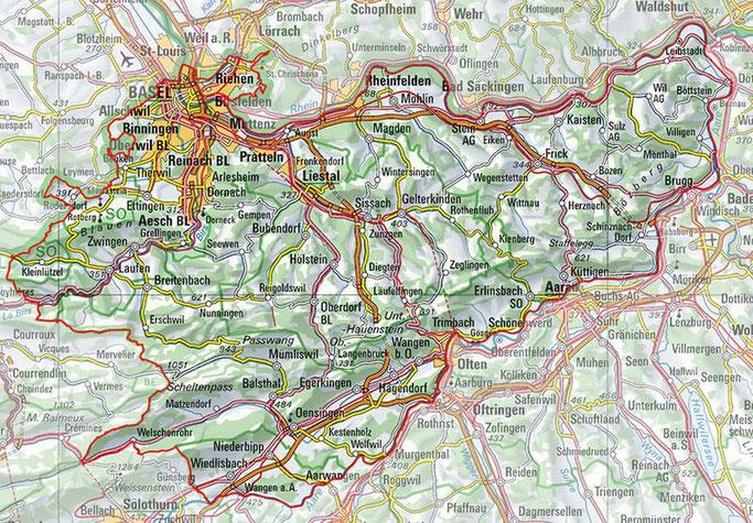Kartenausschnitt: Einsatzgebiet Rettungsstation Jura