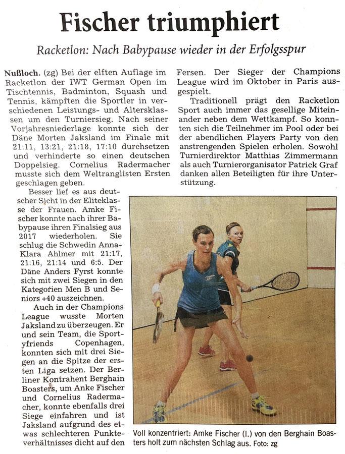 Rhein-Neckar-Zeitung vom 12.08.2019