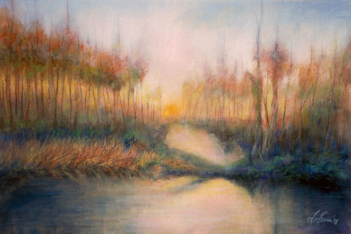 "Pastel on Textured Watercolor Stock 12""x18"""