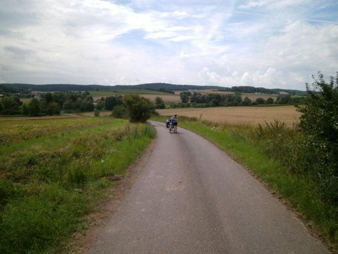 Steigung im Grabfeld, zwischen Autenhausen und Hildburghausen
