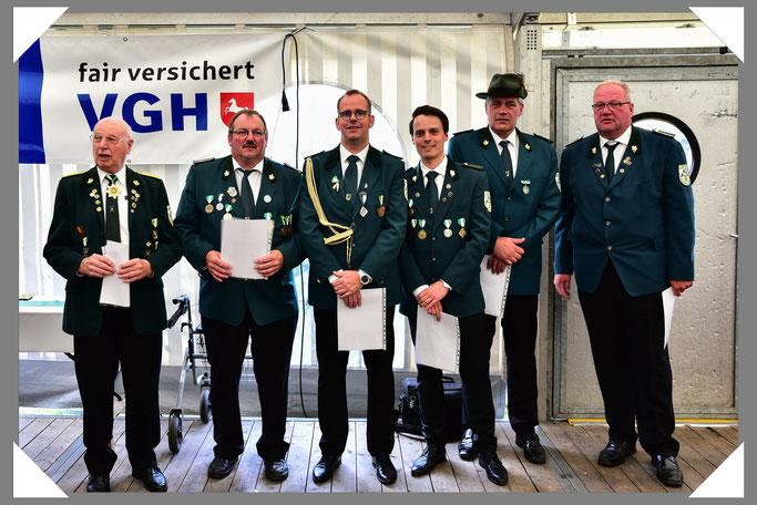 v.l.n.r.: Karl-Werner Grieß, Hartmut Rüsse, Tim Eurlings, Christoph Lührmann, Michael Kipsieker, Rolf Meyer zu Lösebeck.