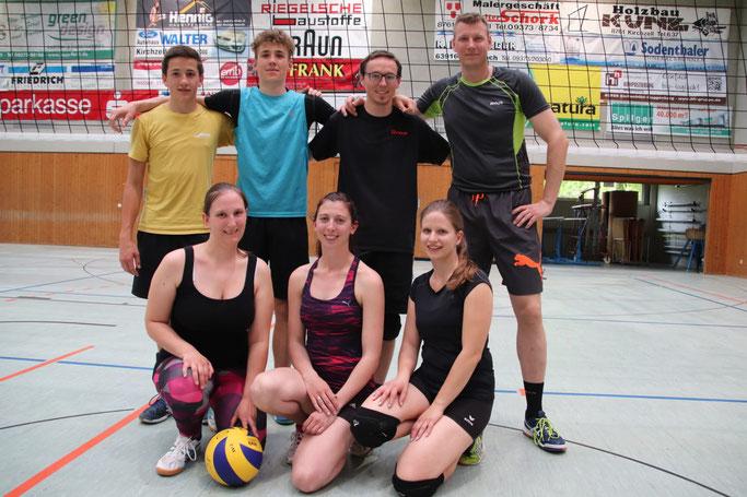hinten: Peter Deuchert, Etienne Feyrer, Arne Spitzer, Florian Kaiser vorne: Andrea Bader, Katrin Meixner, Lisa Stubbe