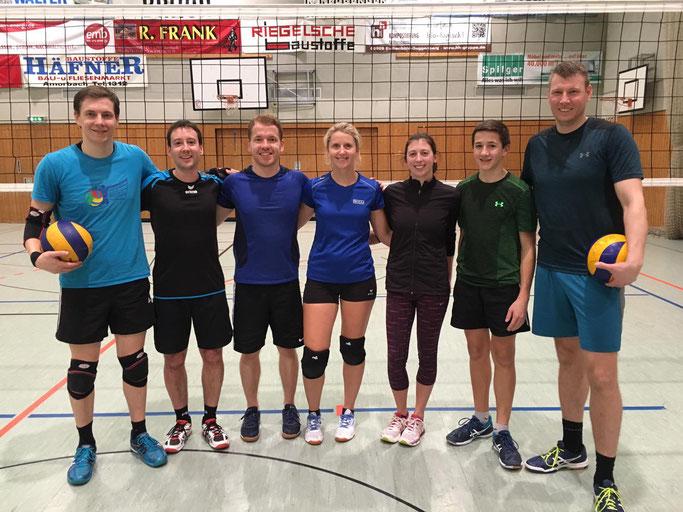 Es spielten v.l.n.r.: Martin Meixner, Tobias Schuck, Markus Meixner, Eva Gabriel, Katrin Meixner, Peter Deuchert, Florian Kaiser (es fehlt Eva Deuchert)