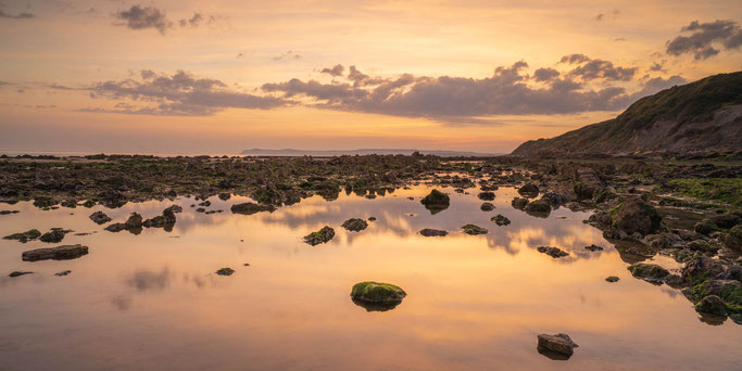 Het strand van Cap Gris-Nez, net vóór zonsopkomst.