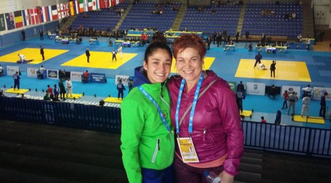 Eider junto a su entrenadora Sonia Gerboles
