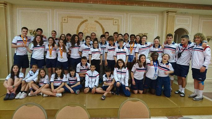 Foto de grupo de la Selección Vasca Infantil y Cadete. Foto: Federación Vasca de Judo.