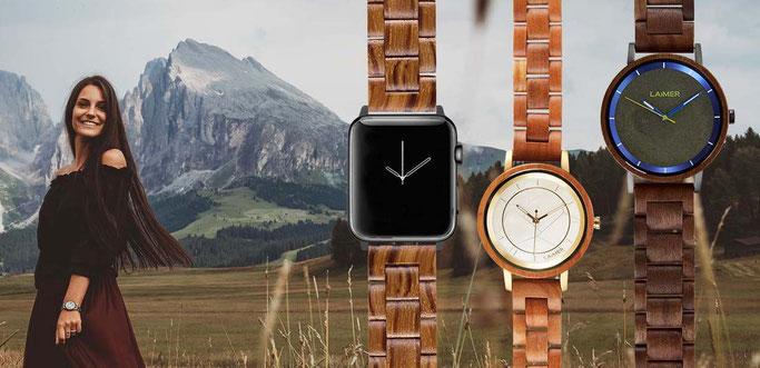 LAiMER Uhren aus Holz in Kühlungsborn: OSTSEEJUWELIER
