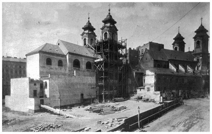 Neubau der Laimgrubenkirche 1907