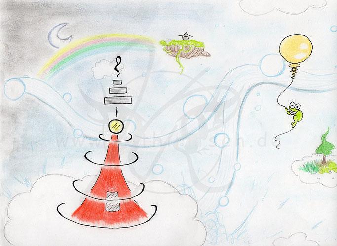 Paradiesischer Leuchtturm