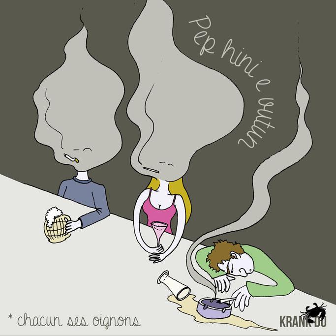 """que signifie l'expression bretonne ? Pep hini e vutun ! """"chacun ses oignons"""" - dessin breton illustration Bretagne bzh breizh mots citation formule figure de style symbole"""