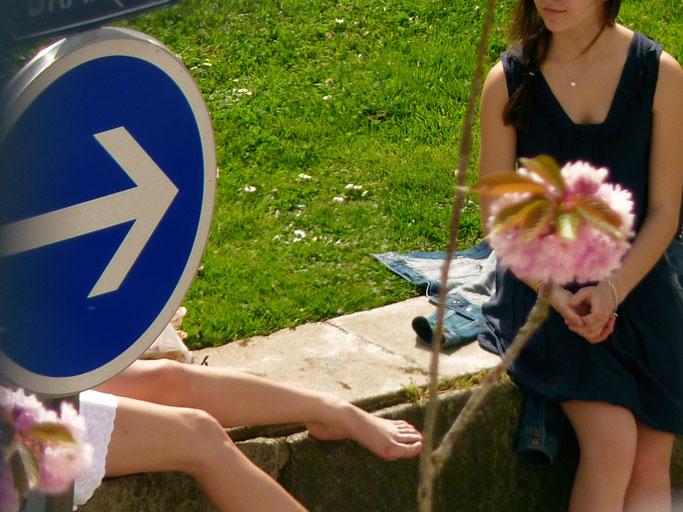 Jeunes filles en fleur - Centre de Brest - 2010