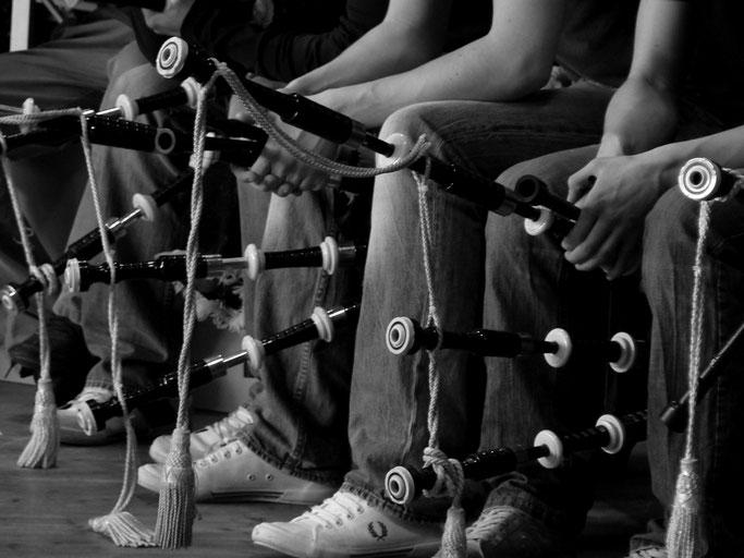 Bagad Plougastell - Détails d'une répétition