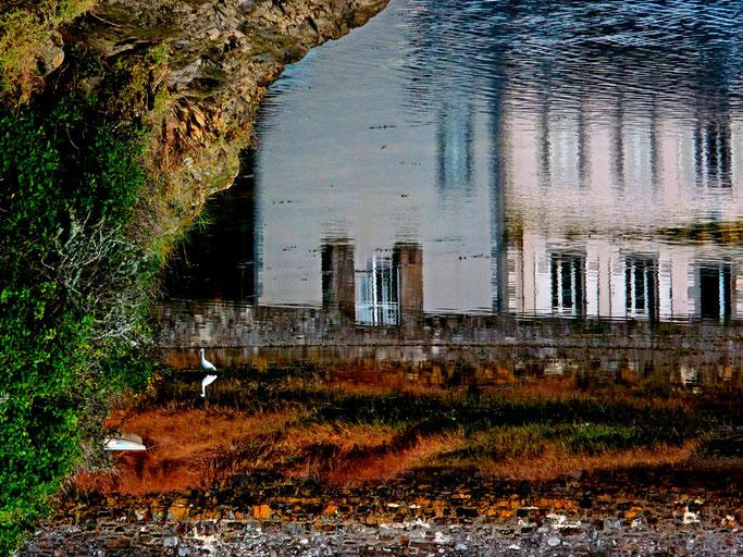 Les reflets du lac de Saint Adrien