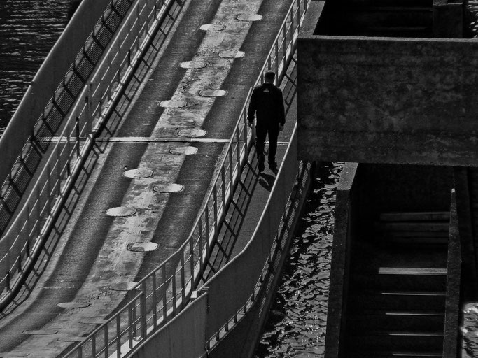 Sur le Pont Gueydon - Brest - 2011