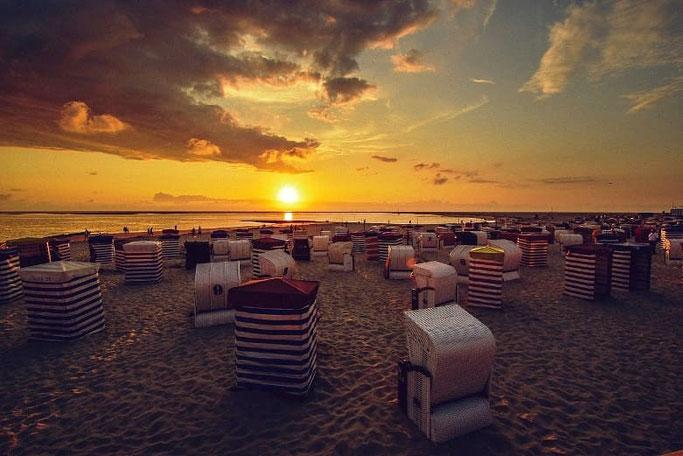 Borkum Strand Sonnenuntergang