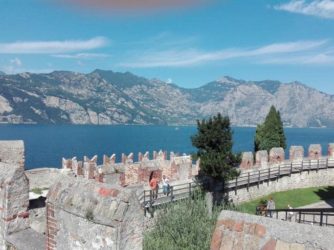 Gardasee Malcesine Burg Aussicht