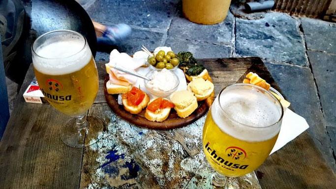 Genua Altstadt Essen und Trinken