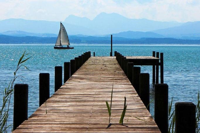 schönste Seen Deutschland: Chiemsee