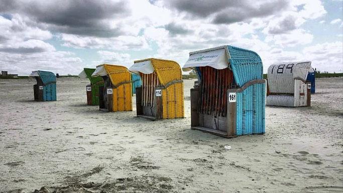 Urlaub Nordsee Strandkörbe