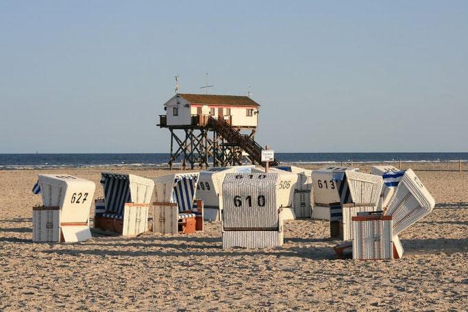 Urlaub Nordsee Festland Strandkörbe St. Peter-Ording