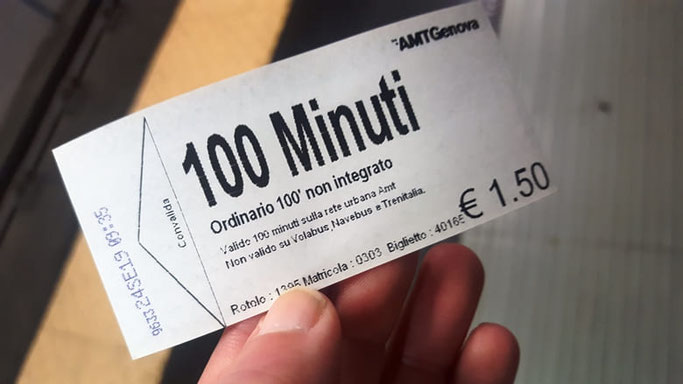 Genua Metro Ticket