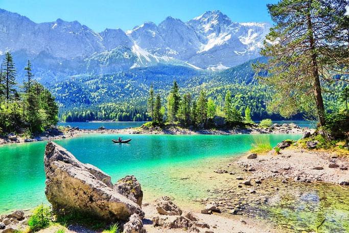 Urlaub mit dem Auto: Eibsee Zugspitze