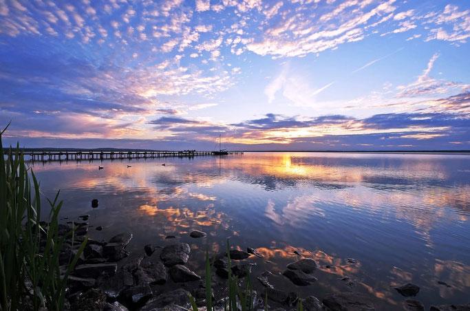 Schönste Seen Deutschland: Steinhuder Meer Sonnenuntergang